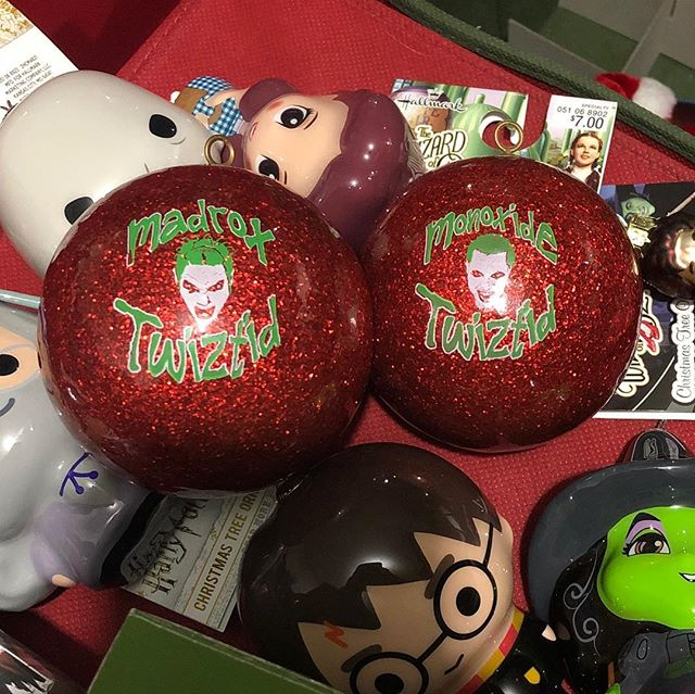 These are still my favorite ornaments  of all the ones we've made! I want one of them Twiztid hallmark ones with the music button! Let's see your favorite ornament!! @officialtwiztid #twiztid #christmas #ornaments
