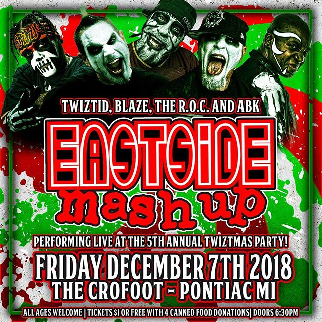 See you Friday at @thecrofoot for #Twiztmas! #EastsideMashUp