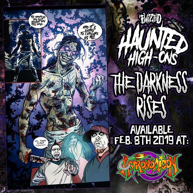 We will be dropping our next issue of #HauntedHighOns at the 2nd annual @theastronomicon! #TheDarknessRises #Twiztid