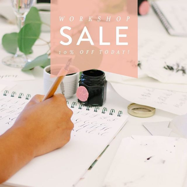 Last minute Mother's Day shoppers I'm looking at you! Get 10% off ANY workshop. TODAY ONLY. Use code: MOMSDAY at checkout. Link in profile!