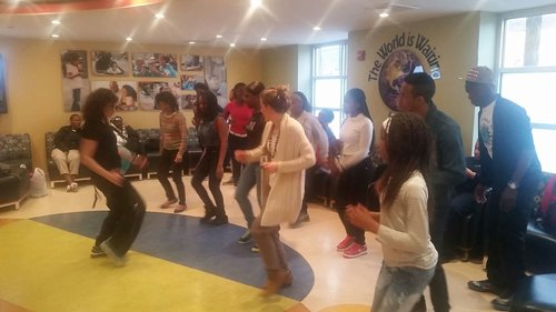 Zumba at Terra Firma, Center for Child Health and Resiliency waiting room