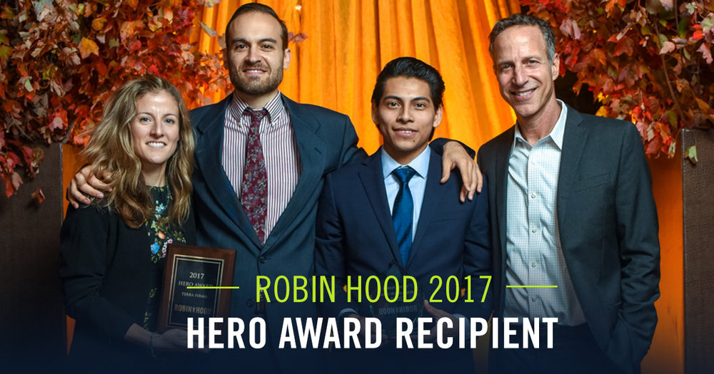 We are honored to be selected as a 2017 Robin Hood Hero Award Recipient along with our phenomenal participant Victor, who shared his powerful story.