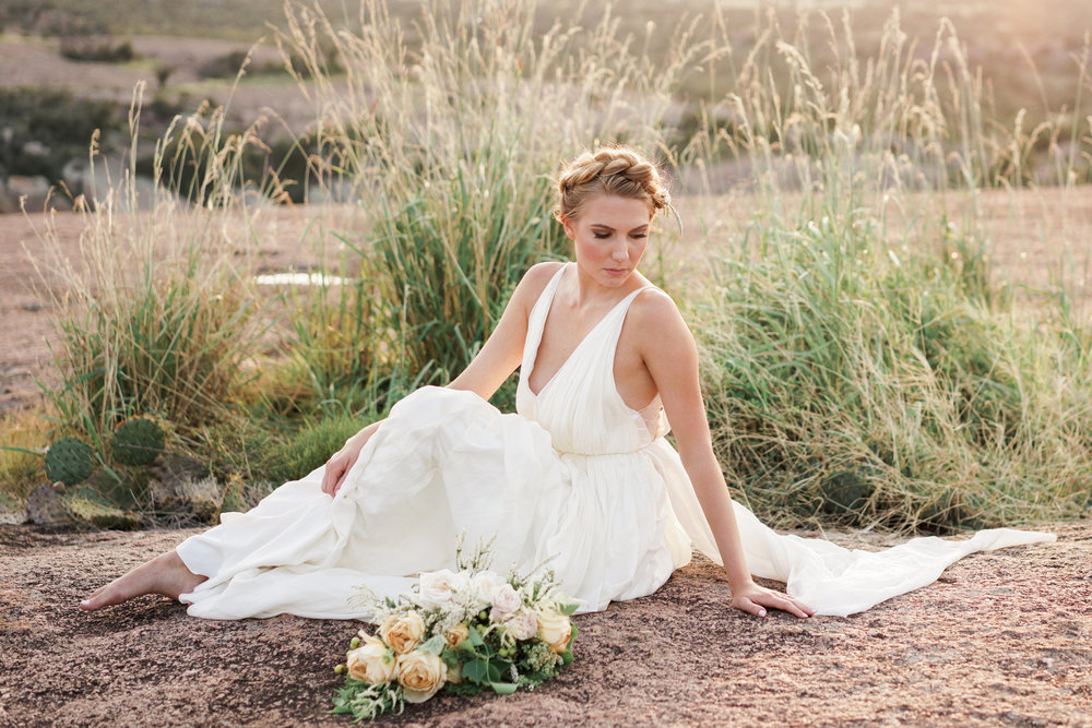 Fine Art Austin Wedding Photographer. Enchanted Rock Bridal Shoot.