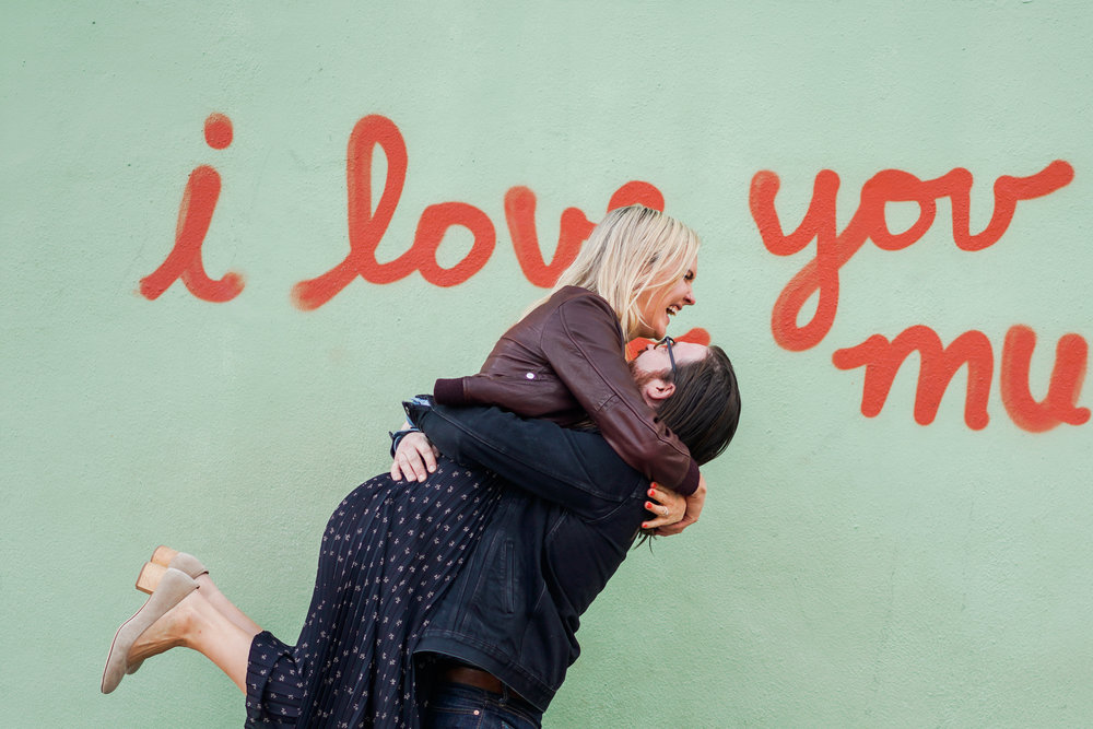 South congress engagement session at the I love you so much Jo's Coffee sign!