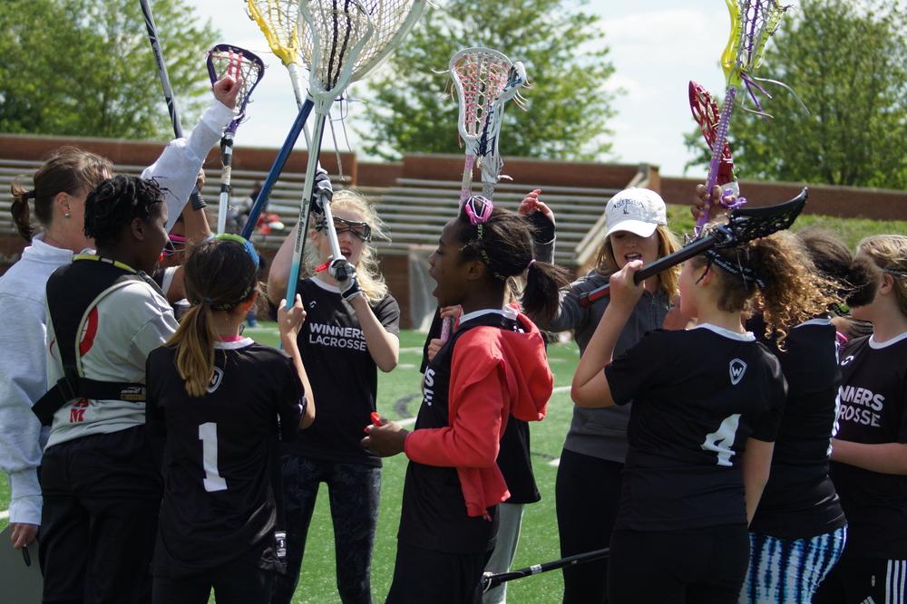 WINNERS Lacrosse Basis DC Girls Lacrosse Team