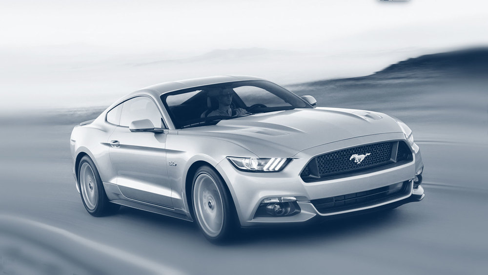 Ford Mustang Makes an Impression, Literally