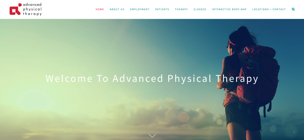 Advanced Physical Therapy - Transforming a cluttered site into an eye-catching, yet soothing place to help connect patients with the therapy they need