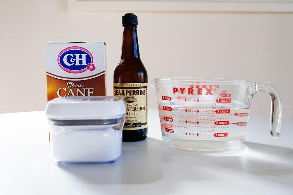 Simple ingredients for a brine.
