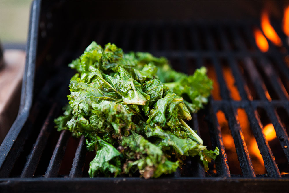 also threw some kale on the grill because why not?