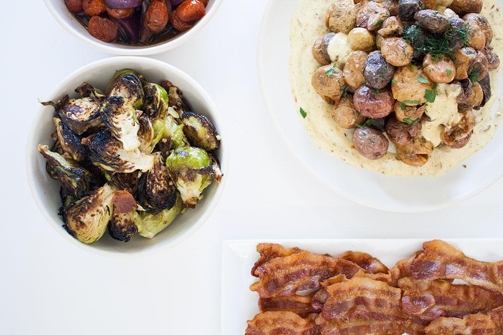 veggies feat. bacon
