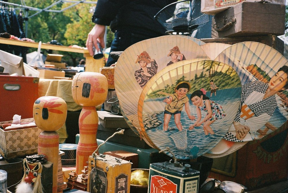 Scenes from Yoyogi Flea Market
