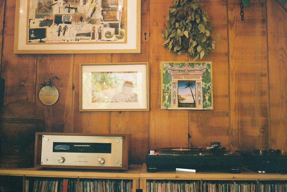 Hawaii Champroo record playing at Paddler's Coffee