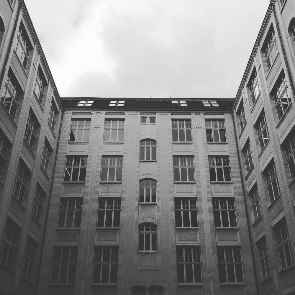 inner courtyards of Berlin apartments (not mine)