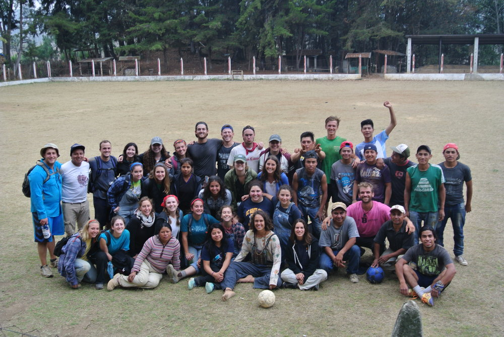 FOOTBALL MATCH WITH OUR GUATEMALAN CREW