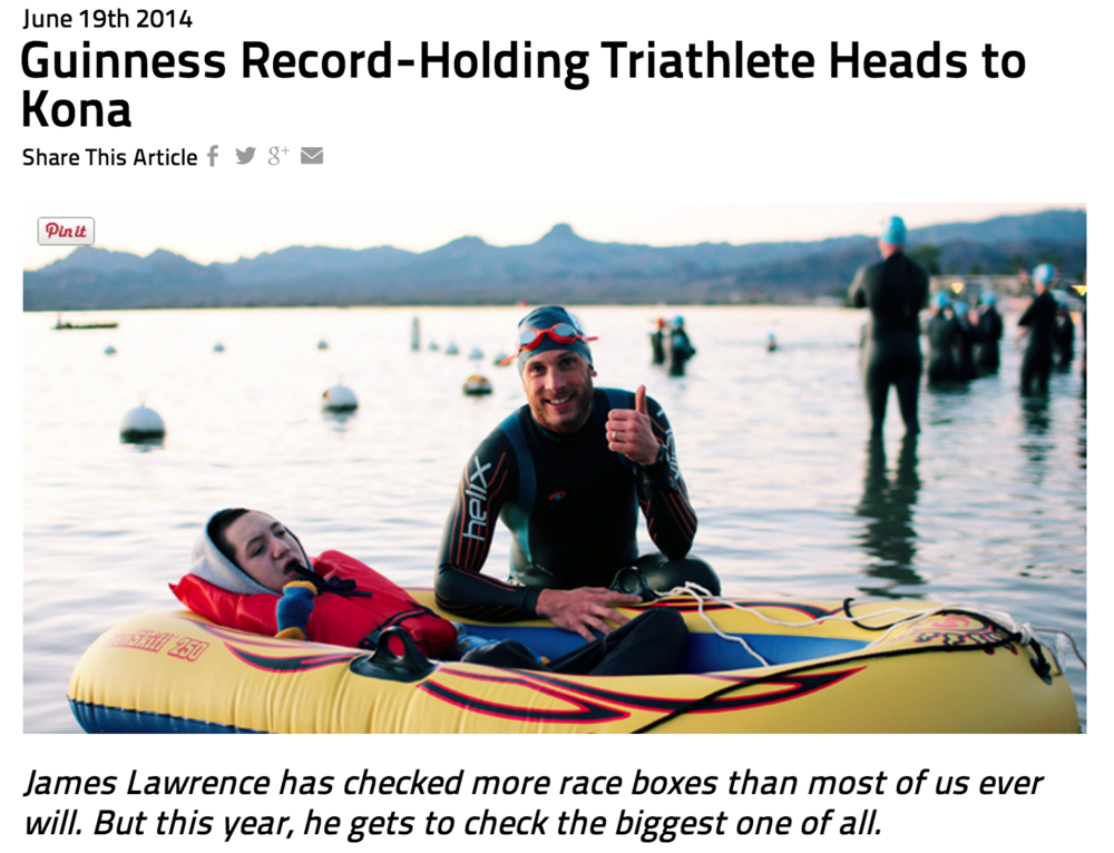 Featured on Ironman.com June 19, 2014
