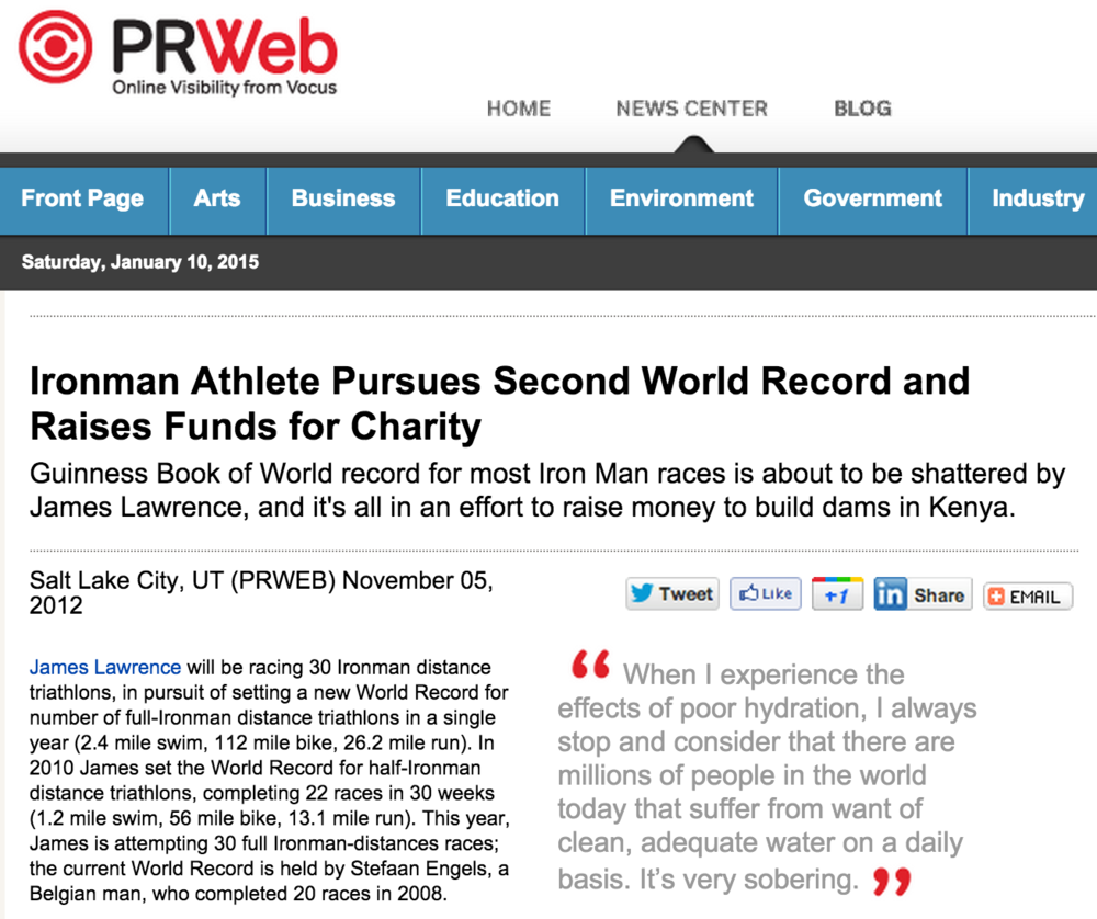 Featured on PRweb November 05, 2012