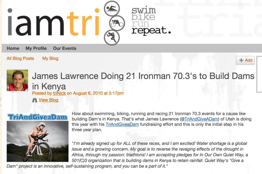 Featured on IAMTRI August 06, 2010