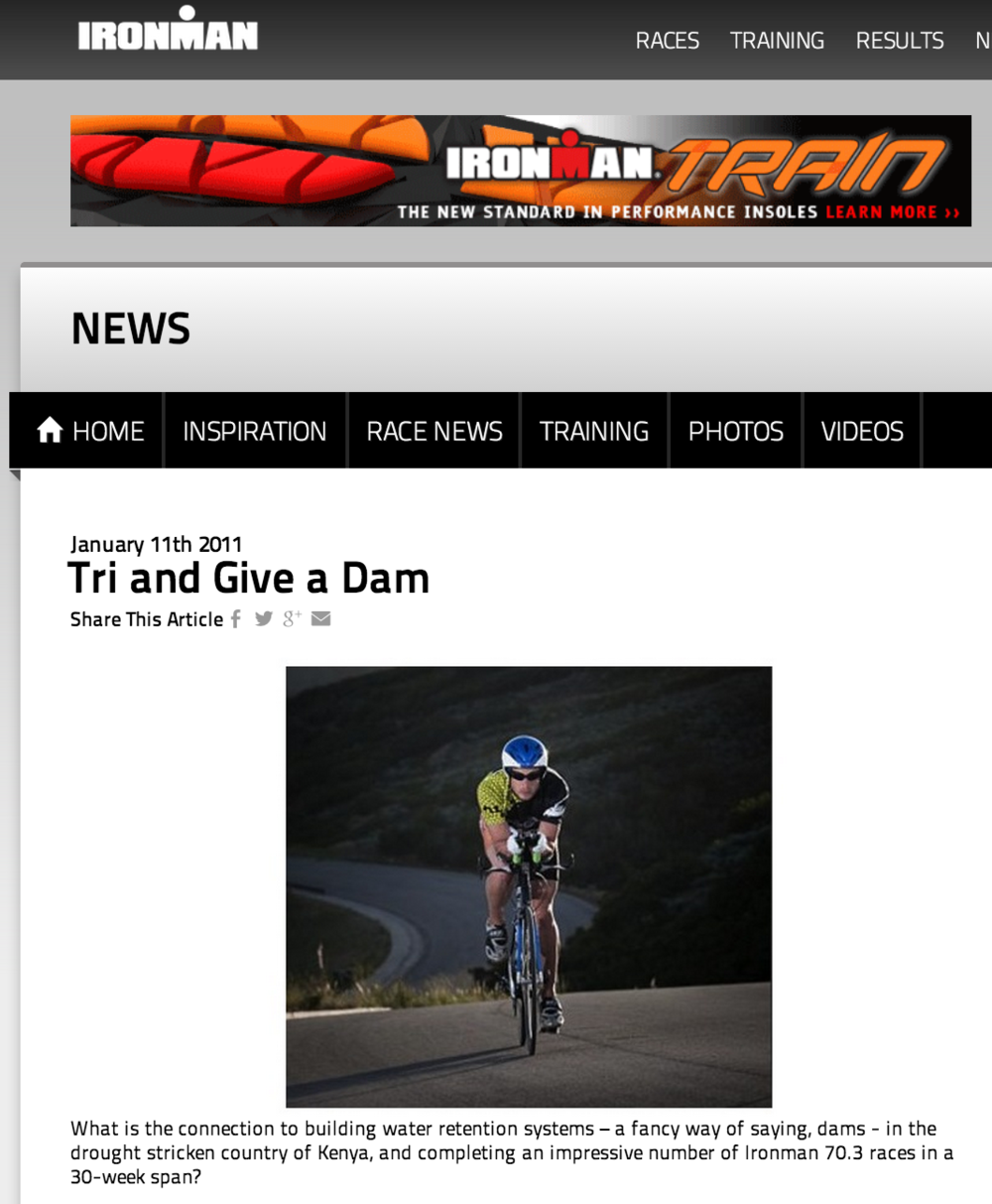 Featured on Ironman.com January 11, 2011