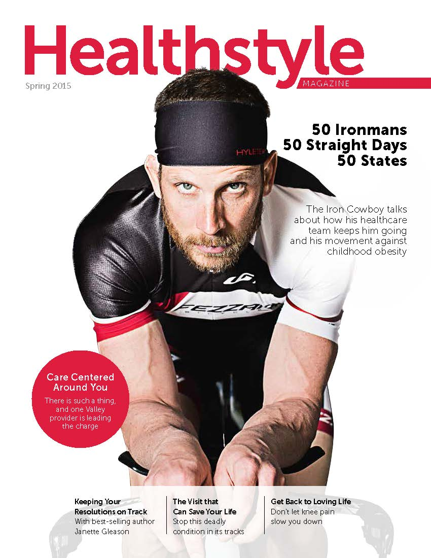 Featured on the cover of Health Style Magazine April 2015