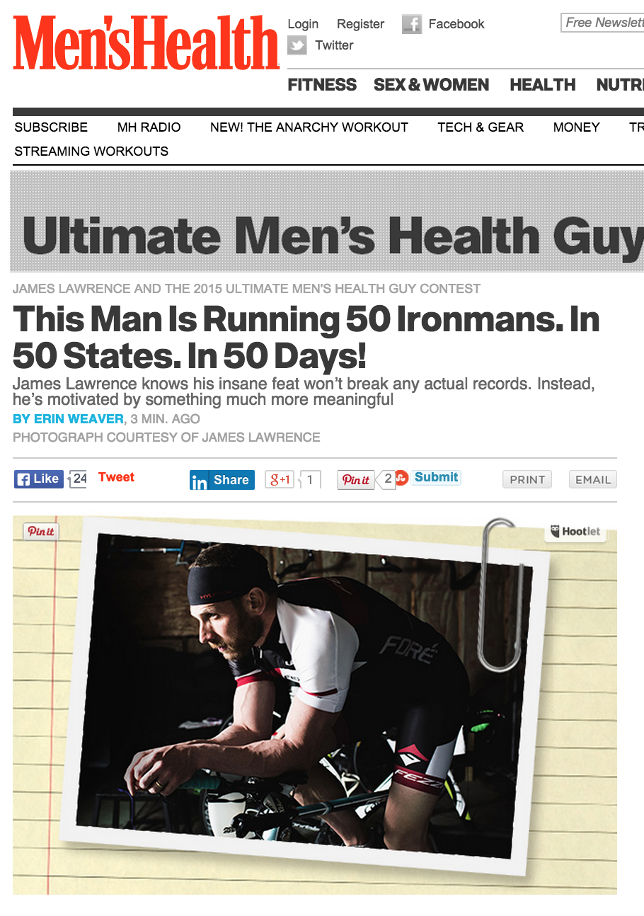 Featured on Men's Health May 30, 2015