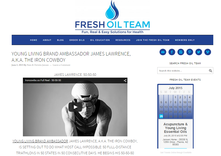 Featured on Fresh Oil Team June 02, 2015