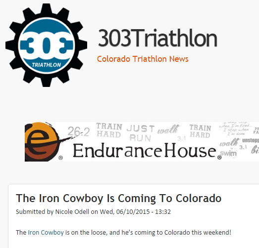 Featured on 303 Colorado Triathlon News June 10, 2015