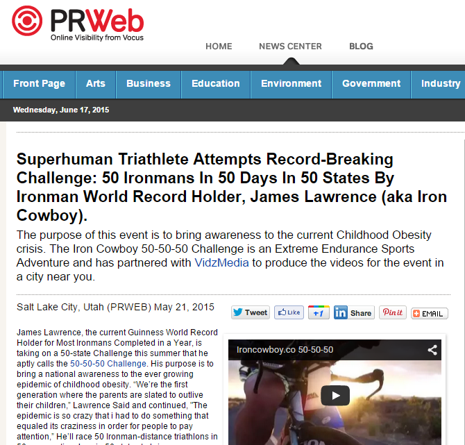 Featured on PRWeb May 21, 2015