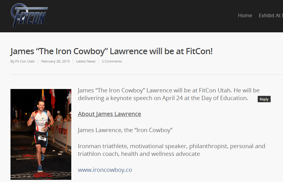 Featured on FitCon Utah February 28, 2015