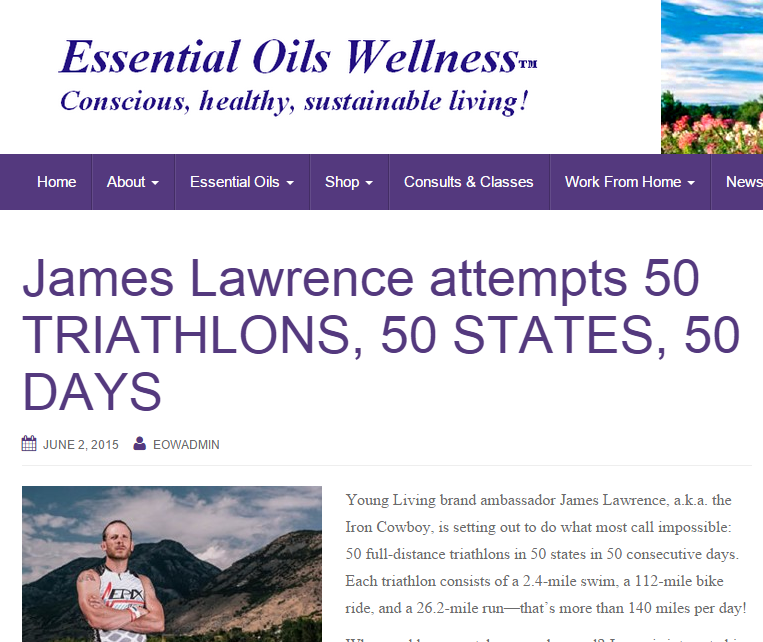 Featured on Essential Oils Wellness June 02, 2015