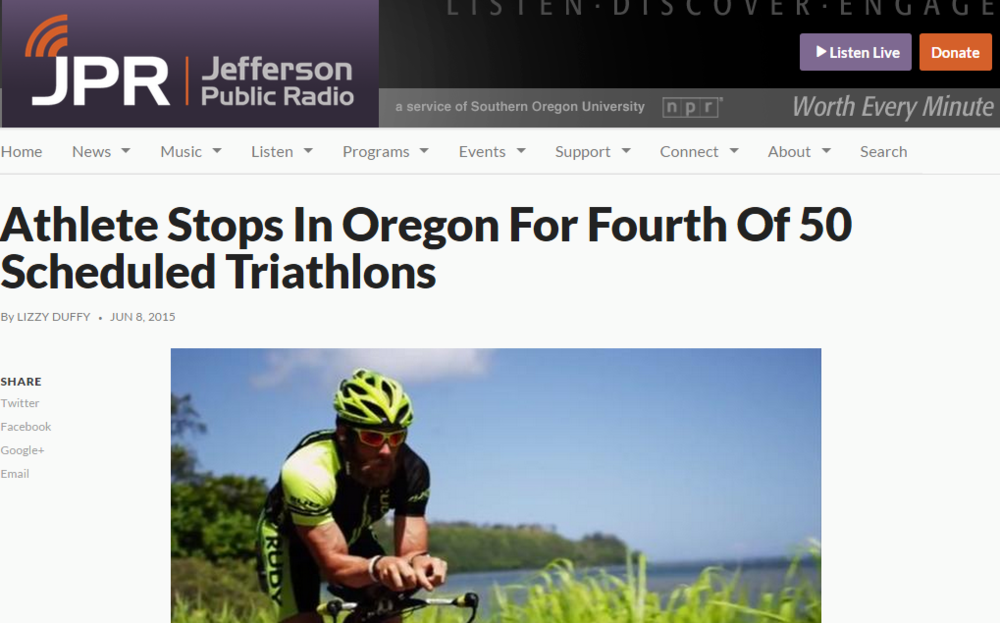 Featured on Jefferson Public Radio June 08, 2015