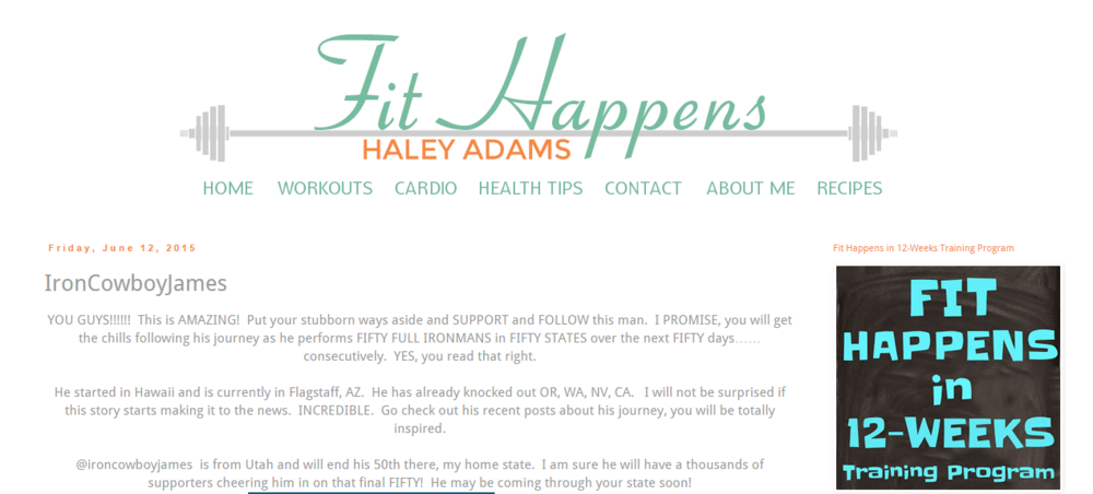 Featured on Fit Happens Blog June 12, 2015
