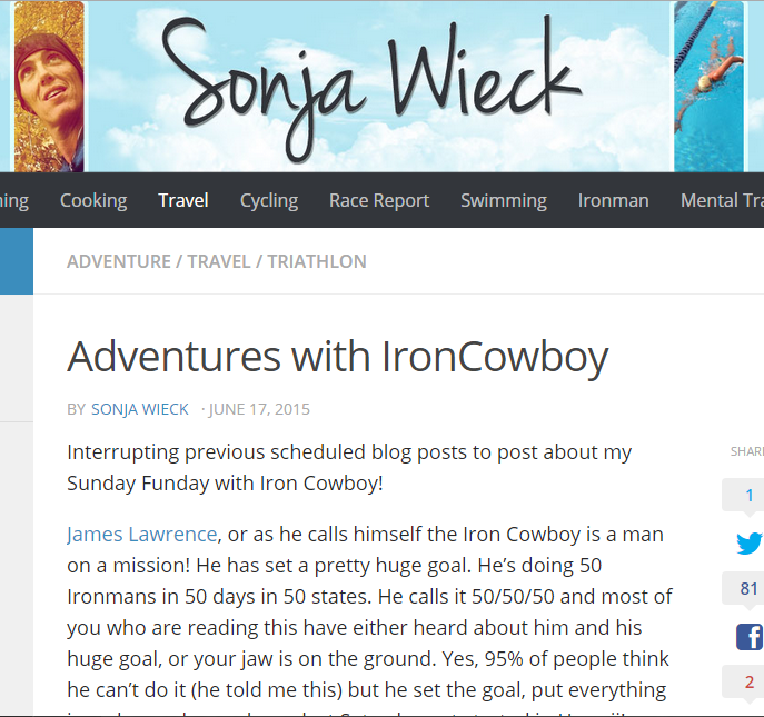 Featured on Sonja Wieck's website June 17, 2015