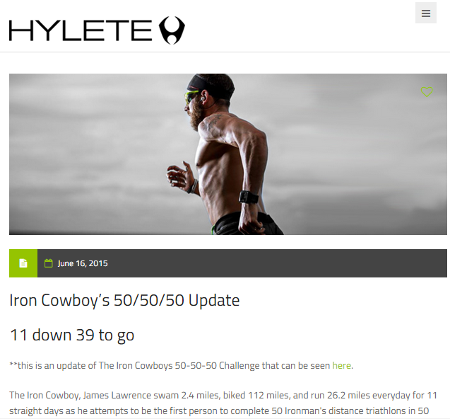 Featured on Hylete June 16, 2015