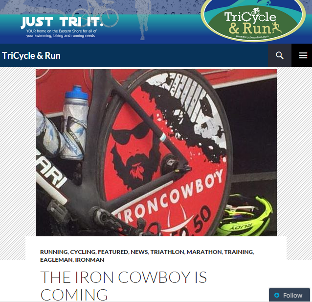 Featured on TriCycle & Run June 17, 2015