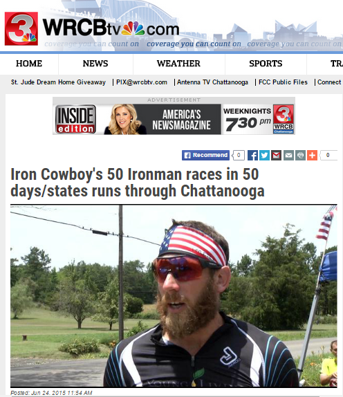 Featured on WRCBtv June 24, 2015