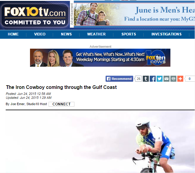 Featured on Fox 10 TV June 24, 2015