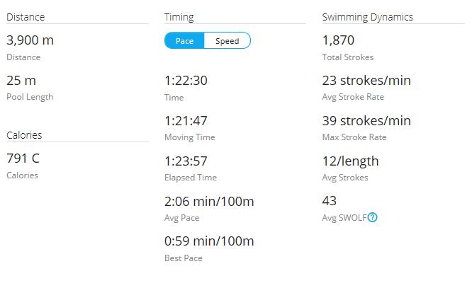 Day 38 Swim