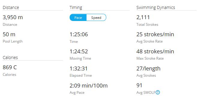 Day 40 Swim