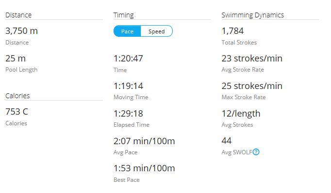 Day 42 Swim #1