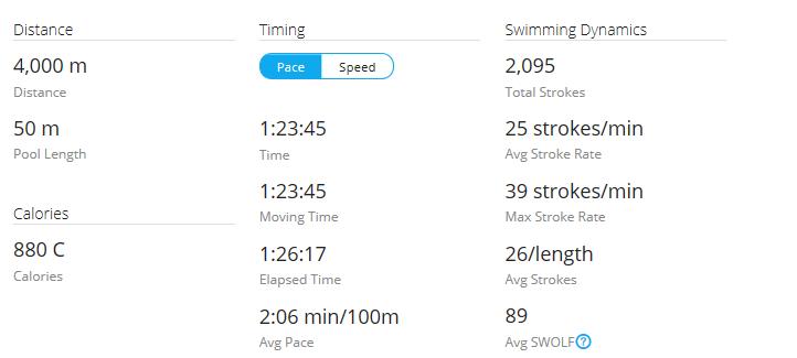 Day 43 Swim