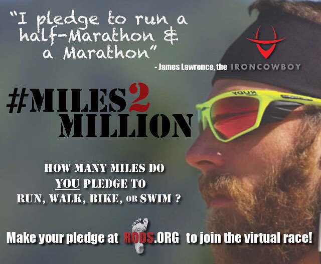 I have made my pledge, make your pledge today for #Miles2Million Virtual Race!! Visit @rodsracing to see how you can join the Virtual Race and pledge your miles! #ICInspired # RODSinspired