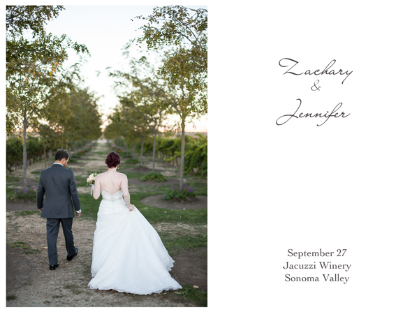 Jacuzzi Winery Sonoma Wedding 1