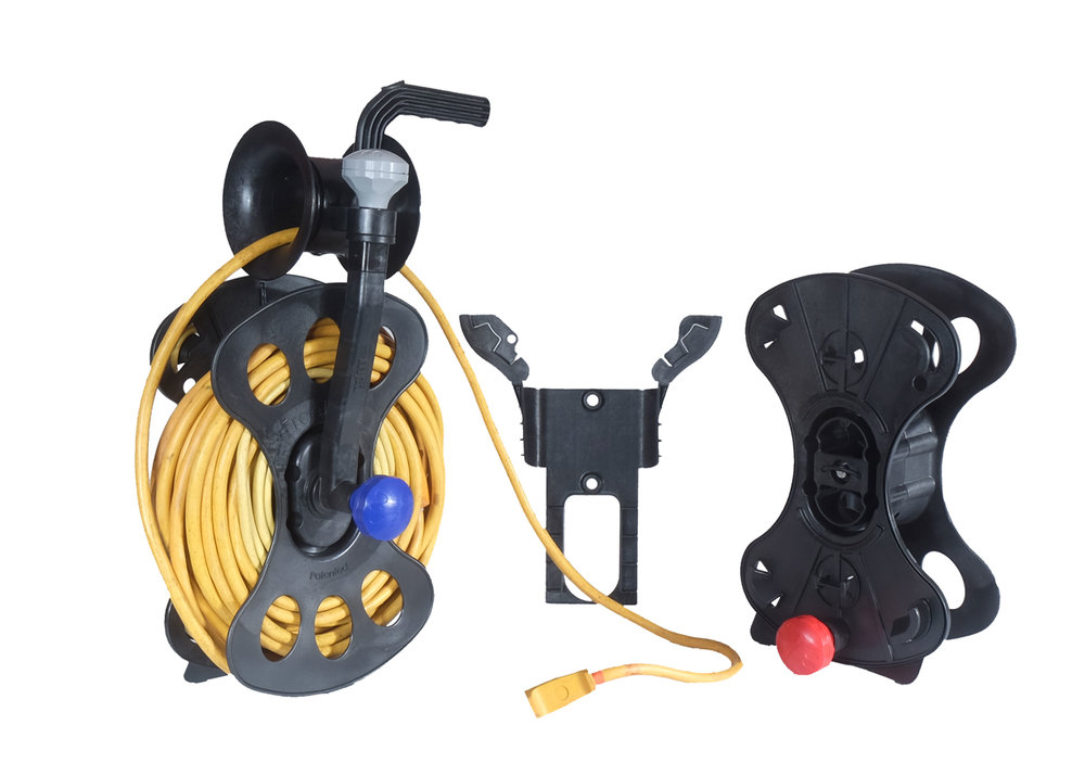 The FreeReel with a heavy gauge power cord
