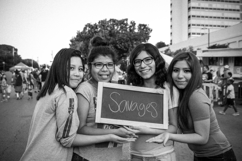 "When I was talking with Alexis, Sandra, Samantha, and Breanna, I asked them to pick the favorite thing about their friendship. They immediately started giggling and brainstorming. When they came to a conclusion, one girl remarked, ""We can't say that, it's for a project!"" I laughed and said there are no boundaries and to have fun with it! LOVE that they brought out their silly side."