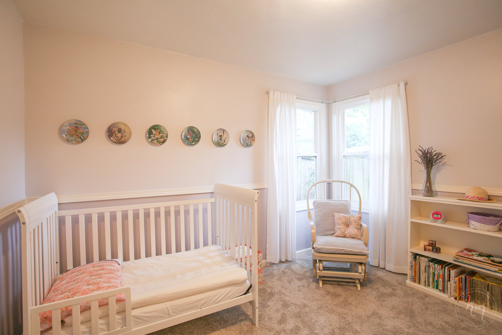 Adorable Nursery!  I love the pink hue and the elegant simplicity!