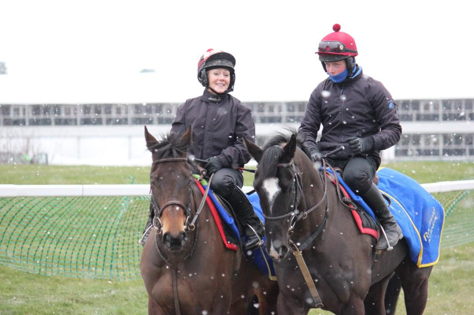 Shop DJ and Owega Star enjoy a balmy Cheltenham morning