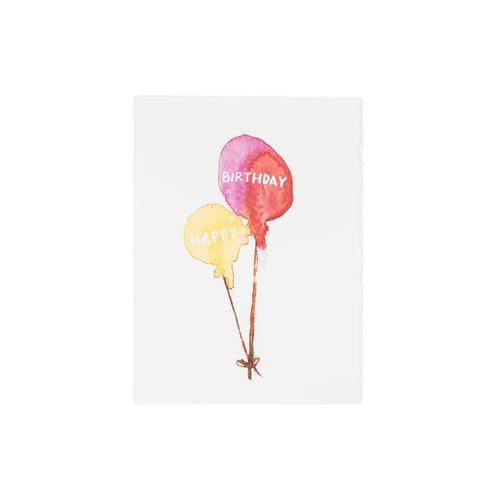 Birthday Balloons Greeting Card Patricia Fk Design Illustration