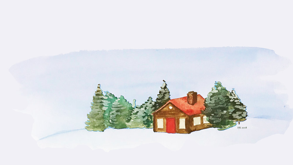Cabin in the Woods - Desktop Background