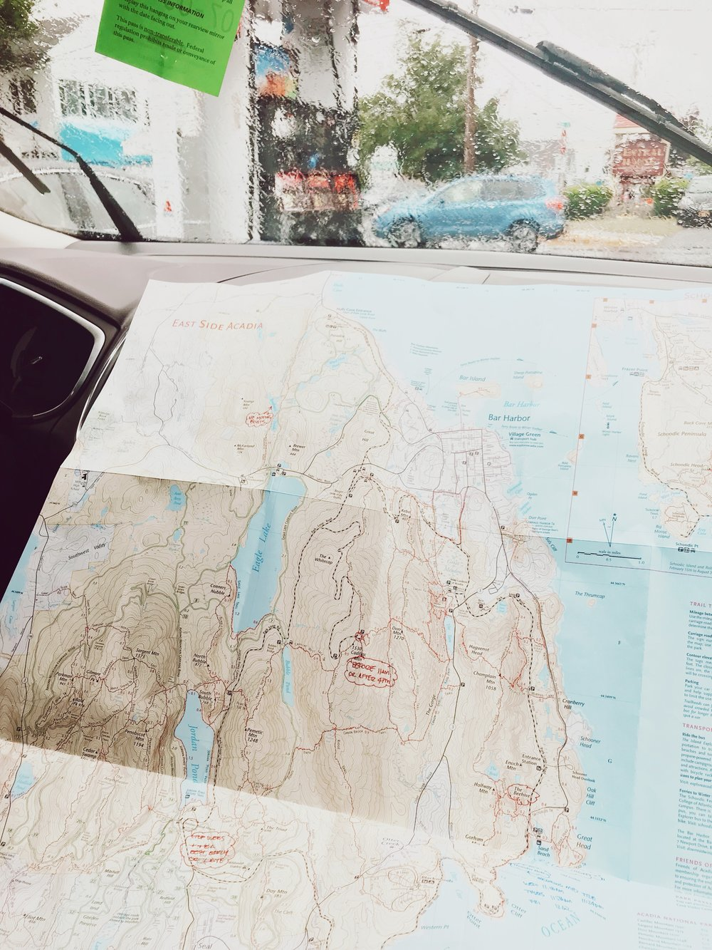 Map of our Acadia adventure - will come in handy.