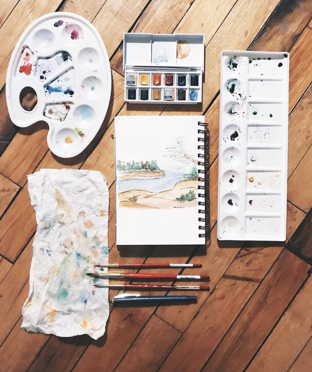 don't compromise on paint! - I absolutely love my Winsor and Newton watercolor paint. While I regularly use tubes, I do have a smaller pack of watercolor pans that I use when I travel.